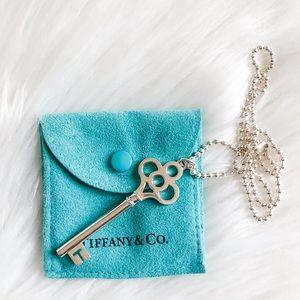 Authentic Tiffany & Co. Crown Key Pendant